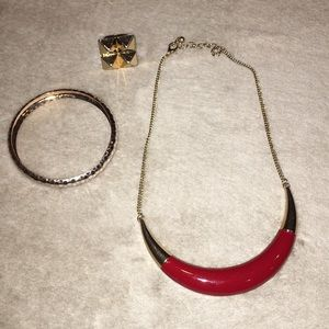 Noir by Gwen Stefani ring,  Limited necklace LOT